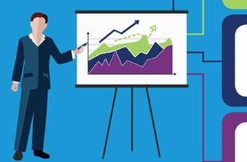 Businessperson presenting data