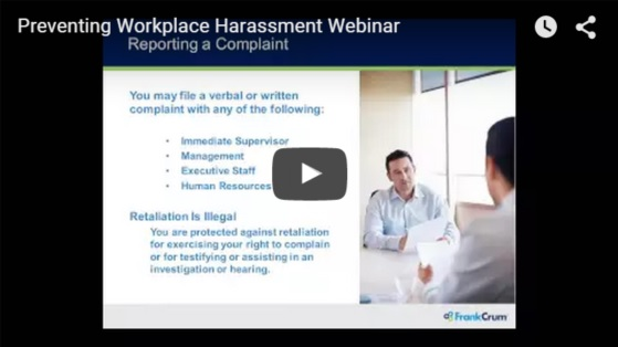 Preventing Workplace Harassment Webinar
