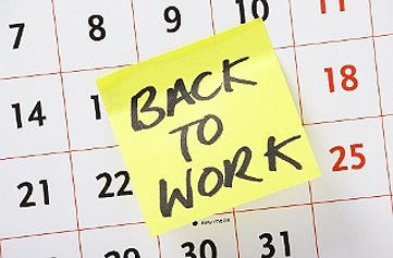Back to Work Post-it